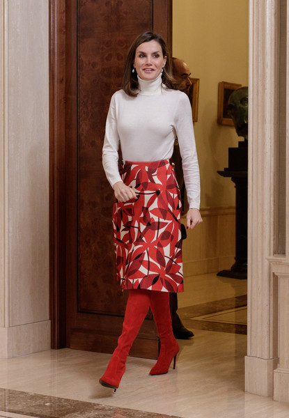 Look of the Day: March 7th, Queen Letizia of Spain