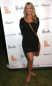 Christie Brinkley chose a simple and chic LBD for her look at the after party for 'The Way, Way Back.'