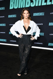 Ashley Greene attended the special screening of 'Bombshell' wearing an oversized white button-down by Ermanno Scervino.