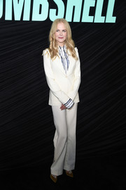 Nicole Kidman opted for a white pantsuit by Altuzarra when she attended the special screening of 'Bombshell.'