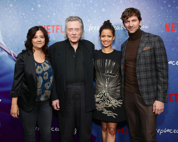 More Pics of Gugu Mbatha-Raw Beaded Dress (2 of 15) - Dresses & Skirts Lookbook - StyleBistro [netflix film ``irreplaceable you,special screening of the netflix film ``irreplaceable you,event,premiere,carpet,stephanie laing,gugu mbatha-raw,christopher walken,michiel huisman,new york city,metrograph theater,the metrograph,screening]
