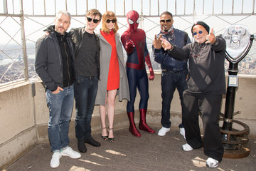 Spider-Man Emma Stone 'The Amazing Spider-Man 2' Lights the Empire State Building