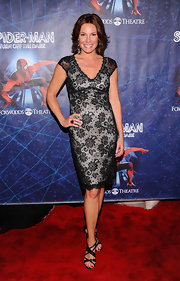 This fitted black lace dress gave LuAnn a classically sexy look at the 'Spider-Man Turn Off The Dark' opening night on Broadway.