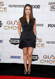 Mila Kunis put a twist on the LBD with this interesting tailored design at the Guys Choice Awards.