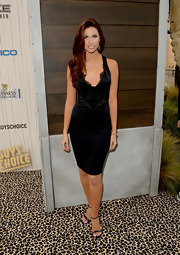 Katherine Webb chose a satin and lace LBD for Spike TV's Guys Choice.