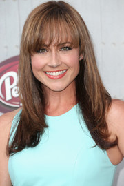 Nikki Deloach wore her hair straight with feathered ends and eye-grazing bangs during Spike TV's Guys Choice 2014.