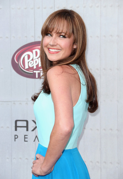 More Pics of Nikki Deloach Long Straight Cut with Bangs (2 of 10) - Nikki Deloach Lookbook - StyleBistro