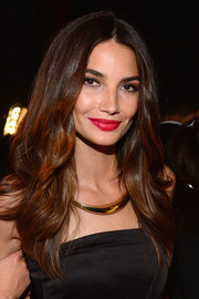 Lily Aldridge looked oh-so-sexy with her red, red lips and smoky eyes during Spike TV's Guys Choice 2014.