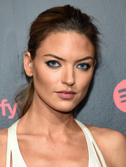 Martha Hunt attended Spotify's Best New Artist party sporting a casual ponytail.