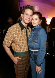 Zoey Deutch went for the double-denim look with this jacket and jeans combo at the Spotify Best New Artist party.