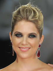 Ashley Benson wore her hair in a voluminous updo for the 'Spring Breakers' premiere.