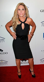 Adrienne Maloof vamped it up in a black halter dress at the Southern Style event.