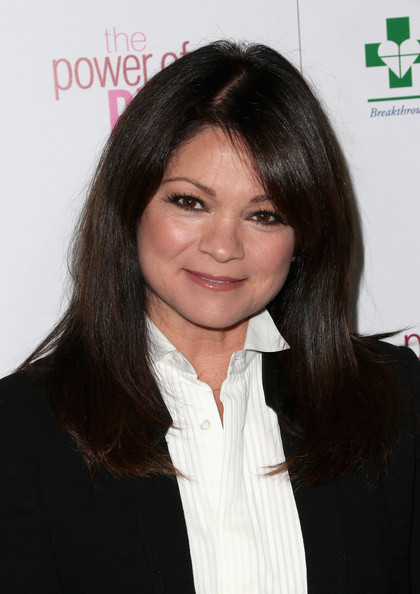 More Pics of Valerie Bertinelli Long Straight Cut with Bangs (1 of 6) - Valerie Bertinelli Lookbook - StyleBistro