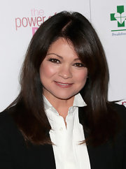 Valerie Bertinelli looked quite chic in a long straight cut with bangs at the Power of Pink benefit.