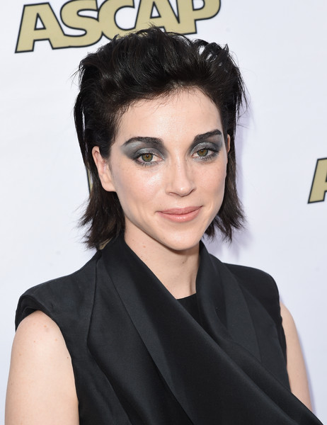 St. Vincent Messy Cut [red carpet,hair,face,hairstyle,eyebrow,black hair,chin,beauty,forehead,lip,shoulder,st. vincent,ascap pop music awards,hollywood,california,the loews hollywood hotel]