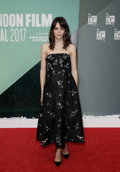 Stacy Martin Strapless Dress
