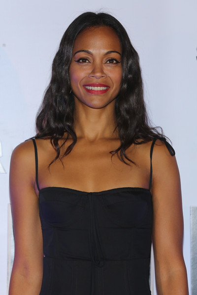 More Pics of Zoe Saldana Long Wavy Cut (1 of 23) - Zoe Saldana Lookbook - StyleBistro