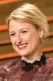 Mamie Gummer took a risk with this messy updo when she attended the Vanity Fair Oscar party.