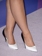 Katie Lowes chose a pair of pointy two-tone pumps to complete her ensemble at the Variety Power of Women event.