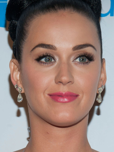 More Pics of Katy Perry Diamond Studs (1 of 22) - Earring Studs Lookbook - StyleBistro [face,hair,eyebrow,lip,hairstyle,nose,cheek,chin,forehead,skin,katy perry,stars,jewelry detail,los angeles,california,the ace hotel theater,universal music group,post-grammy party,party]
