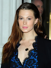 Elettra Rossellini Wiedemann attended the Stella McCartney store opening in Soho wearing her long hair casually tousled.