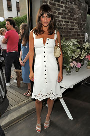 Helena Christensen showed off her supermodel figure while attending the Stella McCartney presentation.