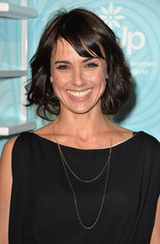 Constance Zimmer kept it youthful with this short wavy 'do with side-swept bangs during the Inspiration Awards.
