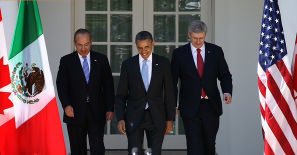 Obama Holds Joint Press Conf. With Mexican And Canadian Leaders At White House