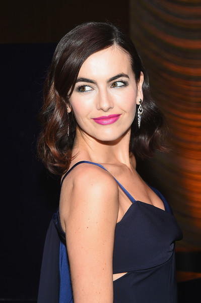More Pics of Camilla Belle Medium Curls (4 of 11) - Camilla Belle Lookbook - StyleBistro [hair,face,hairstyle,eyebrow,lip,beauty,chin,shoulder,brown hair,black hair,new york city,the pool,stuart weitzman fw18 presentation and cocktail party,stuart weitzman fw18 presentation and cocktail party,camilla belle]