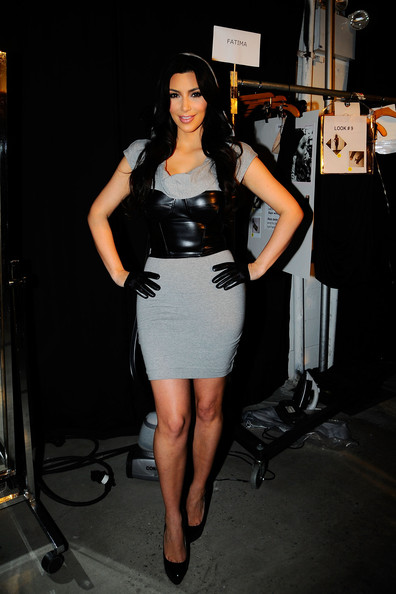 Kim+Kardashian in Style360 bebe Kardashian Fall Collection - Backstage