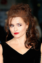 Helena Bonham Carter teased her tresses into a messy, high-volume ponytail for the BFI London Film Fest premiere of 'Suffragette.'