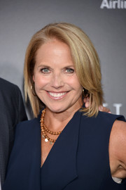 Katie Couric wore her usual bob when she attended the New York premiere of 'Sully.'