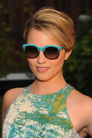 Dianna's blue ombre shades were the perfect summer accessory for her colorful sundress!