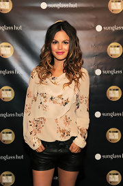 Rachel Bilson showed off her ombre toned locks while attending the Sunglass Hut party.
