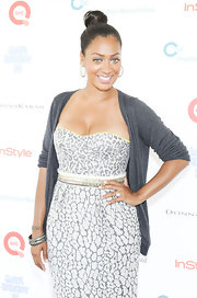 La La Anthony added flair to her look with some silver bangles when she attended the Super Saturday event.