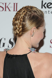 Kate Bosworth fixed her hair in a super-charming braided updo for the 'Big Sur' premiere in New York City.
