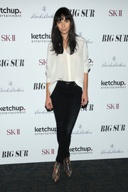 Rebecca Dayan was laid-back in skinny jeans and a button-down at the 'Big Sur' premiere in New York City.
