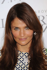 Helena Christensen wore a moisturizing lip balm at the Swarovski Crystallized unsigned model search event.