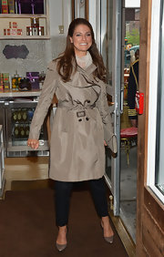 Princess Madeleine wore a tan belted trenchcoat as she attended an NYC Luncheon.