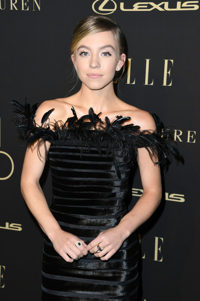 Sydney Sweeney Gemstone Ring [elle women in hollywood - arrivals,sydney sweeney,clothing,dress,little black dress,shoulder,hairstyle,cocktail dress,fashion,premiere,fashion model,black hair,beverly wilshire four seasons hotel,beverly hills,california,elle women in hollywood]