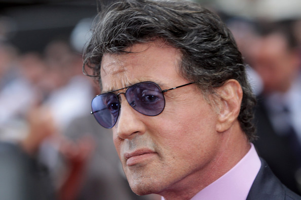Sylvester Stallone Aviator Sunglasses [the expendables,eyewear,glasses,chin,human,forehead,sunglasses,vision care,white-collar worker,sylvester stallone,uk,england,london,odeon leicester square,expendables - uk film premiere - inside arrivals,tabloid newspapers,film premiere]