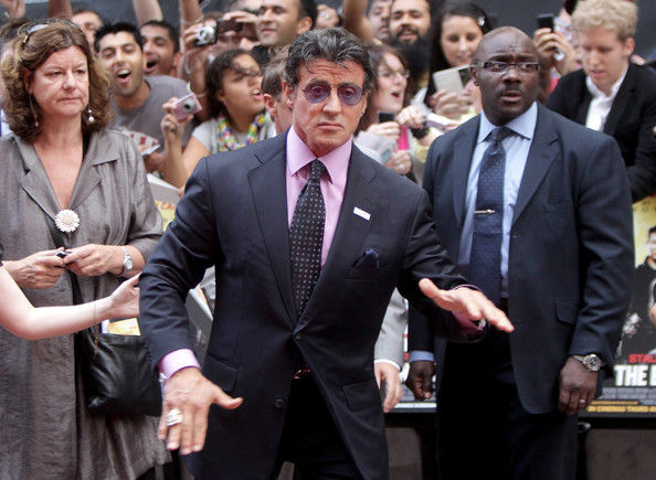 Sylvester Stallone Dotted Tie