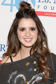 Laura Marano sported a cool knotted half-up hairstyle at the T.J. Martell Foundation's New York Family Day.