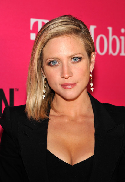 Brittany Snow wore her lob swept to the side when she attended the T-Mobile Un-carrier X launch.