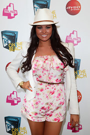 Jessica Wright had some fun in this white fedora cap!