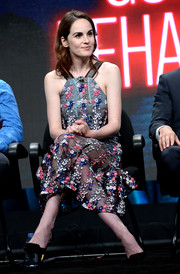 Michelle Dockery oozed sweetness wearing this floral-embroidered dress by Self-Portrait at the TCA Turner Summer Press Tour.