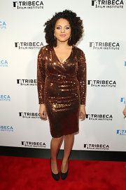 Marsha Ambrosius looked totally fab in her gold sequined wrap dress at the 2011 Tribeca Film Festival.
