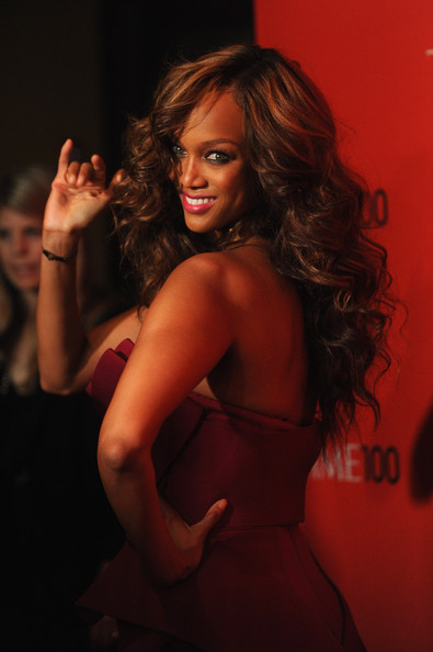 More Pics of Tyra Banks Strapless Dress (1 of 6) - Tyra Banks Lookbook - StyleBistro