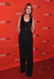 This cool tuxedo-inspired jumpsuit was stylish look for Savannah at the 2012 TIME 100 Gala in NYC.