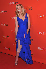 Sara Blakeley showed off her Spanx in this blue chiffon gown at the Time 100 Gala.